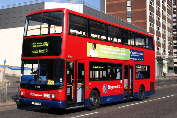 Route 496, Stagecoach London 17438, Y438NHK, Romford