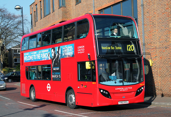 Route 120, London United RATP, ADE41, YX62BYG, Hounslow