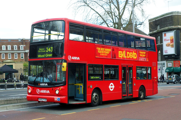 Route 243, Arriva London, DLA243, X443FGP, Waterloo Station