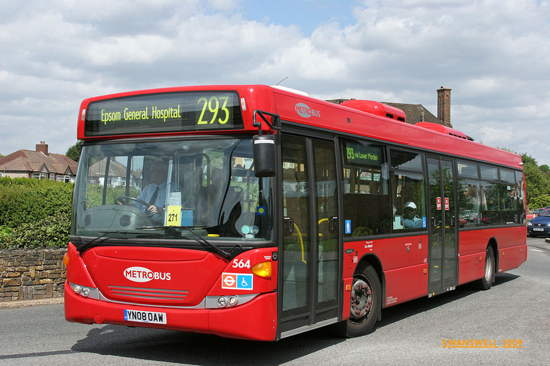 London Bus Routes Route 293 Epsom Hospital Morden