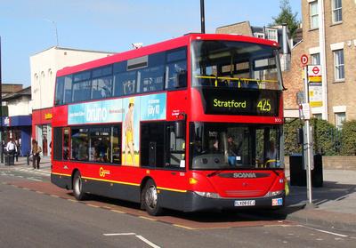 Route 425, Go Ahead London, SOC4, LX08ECJ, Mile End