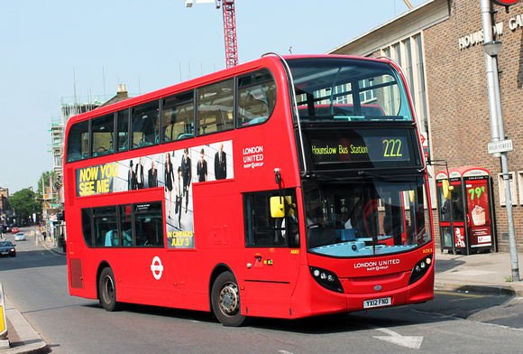 Route 222, London United RATP, ADE8, YX12FNO, Hounslow