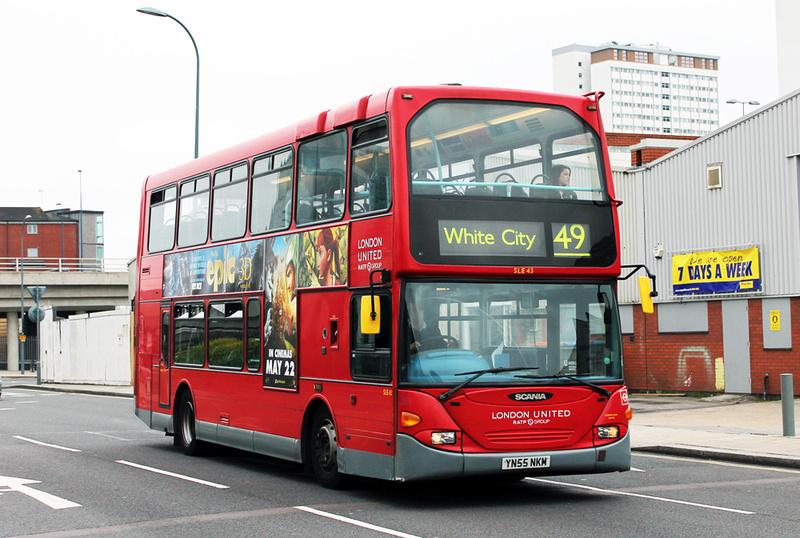London Bus Routes Route 49 Clapham Junction White City