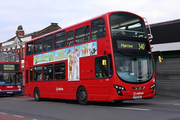 Route 340, Arriva The Shires 6100, KX59AEE, Harrow Weald