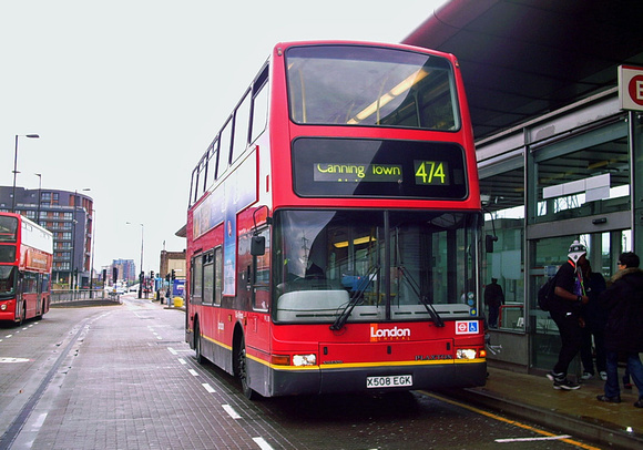Route 474, Go Ahead London, PVL180, X508EGK, Canning Town