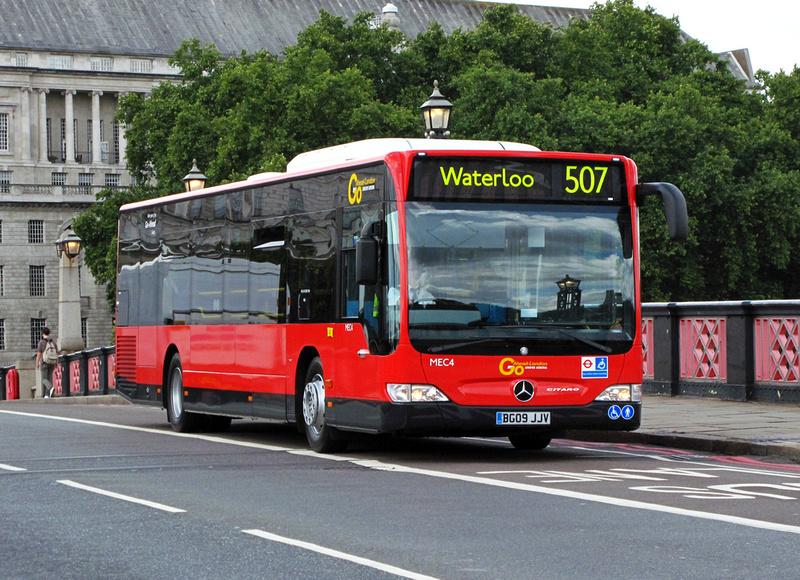 London bus routes route 507 victoria waterloo - Mercedes benz garage london ...