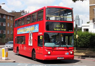 Route 2, Arriva London, VLA52, LJ53BBK, Stockwell