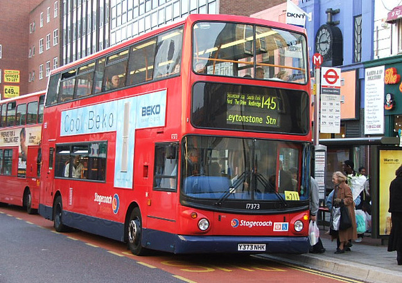 Route 145, Stagecoach London 17373, Y373NHK, Ilford
