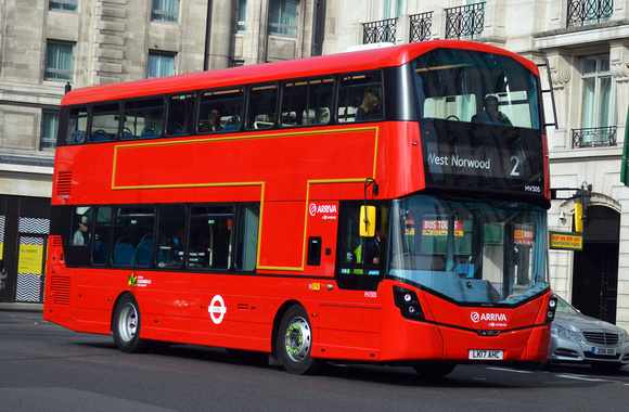Route 2, Arriva London, HV305, LK17AHC, Marble Arch