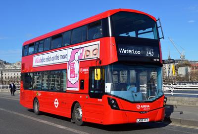 Route 243, Arriva London, HV212, LK66HCY, Waterloo Bridge
