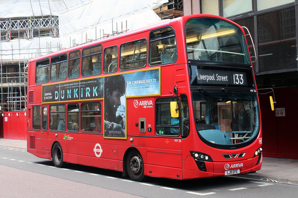 Route 133, Arriva London, HV36, LJ11EFE, Liverpool Street Station