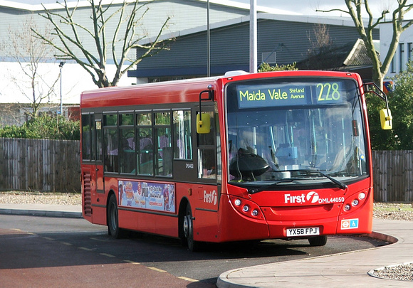 Route 228, First London, DML44050, YX58FPJ, Central Middlesex Hospital