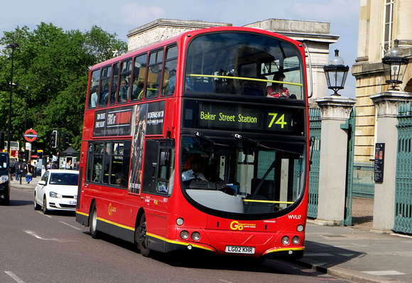 Route 74, Go Ahead London, WVL17, LG02KHR, Hyde Park Corner
