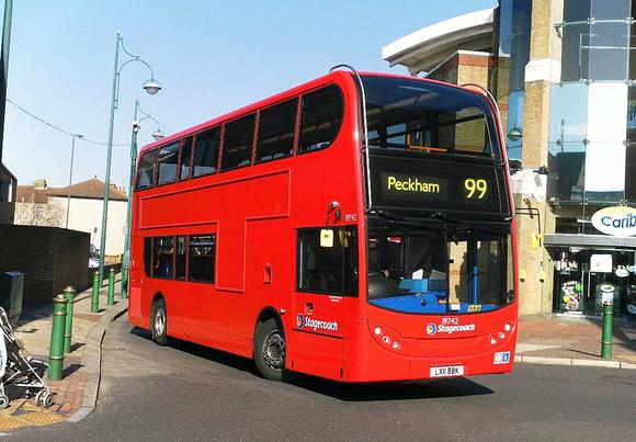 Route 99 Stagecoach London 19742 LX11BBK Bexleyheath