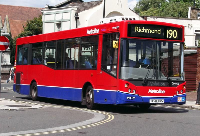 London Bus Routes Route 190 Richmond West Brompton
