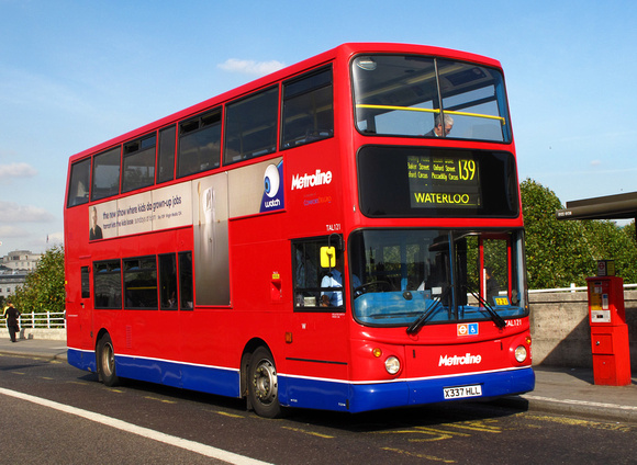 Route 139, Metroline, TAL121, X337HLL, Waterloo