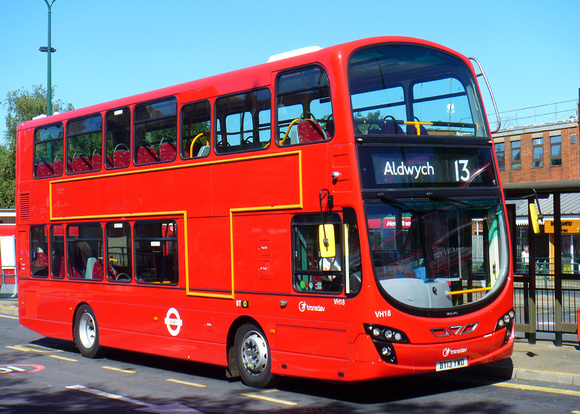 Route 13, Transdev, VH18, BT13YWO, Golders Green