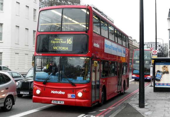 Route 16, Metroline, TAL108, X338HLL, Marble Arch