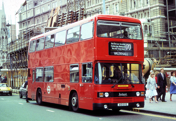 Route 170, London Transport, L1, A101SYE, Charing Cross