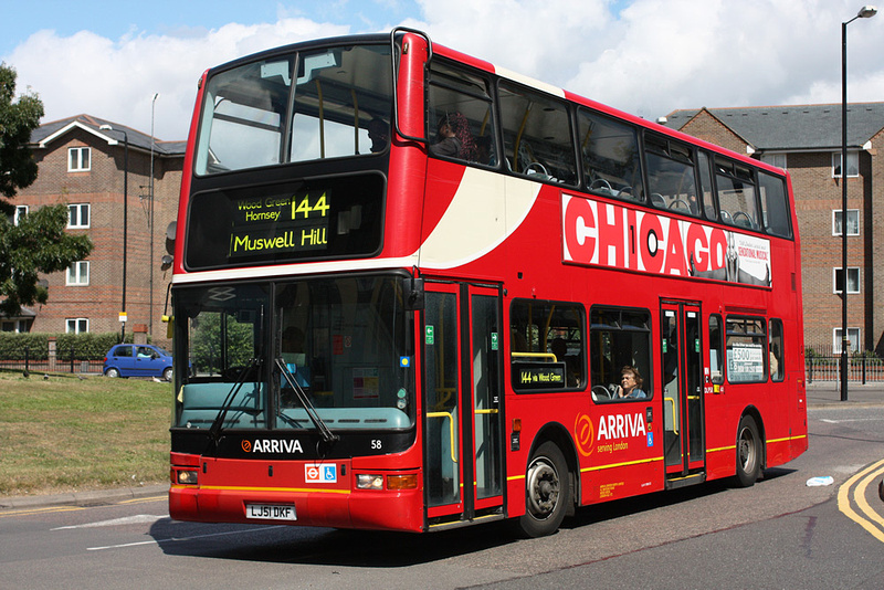 London Bus Routes Route 144 Edmonton Green Muswell Hill