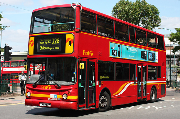 Route 328, First London, TNA33346, LK53EZZ, Golders Green
