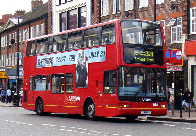 london bus routes route 329 enfield turnpike lane station. Black Bedroom Furniture Sets. Home Design Ideas