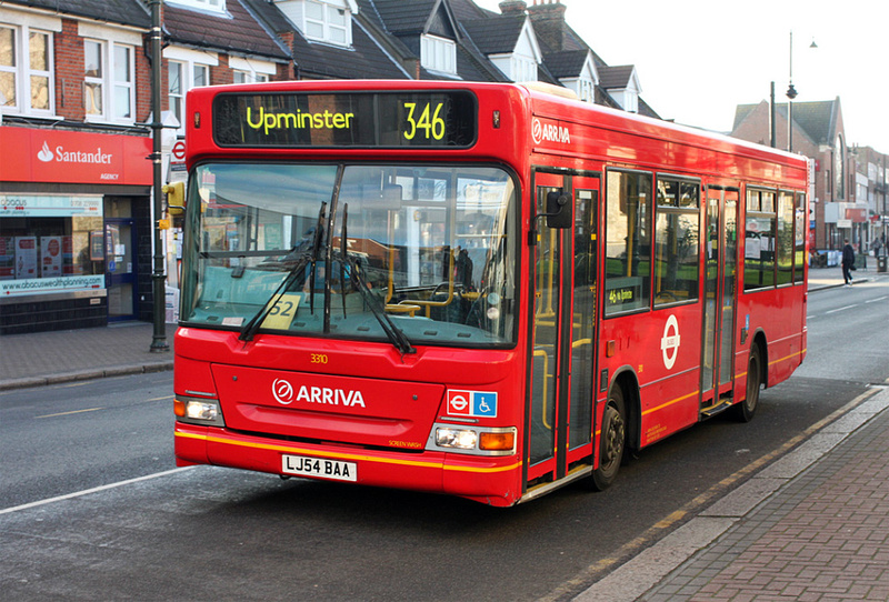 London Bus Routes Route 346 Upminster Park Estate