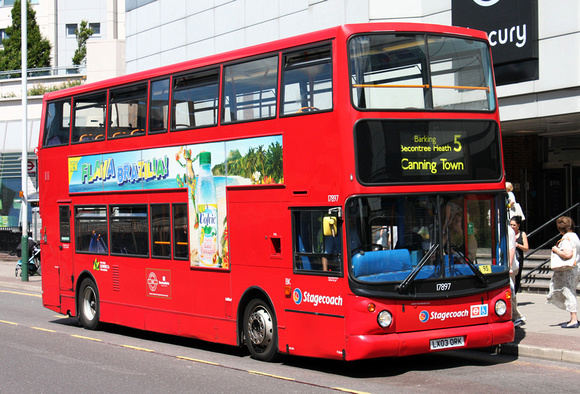 Route 5, Stagecoach London 17897, LX03ORK, Romford