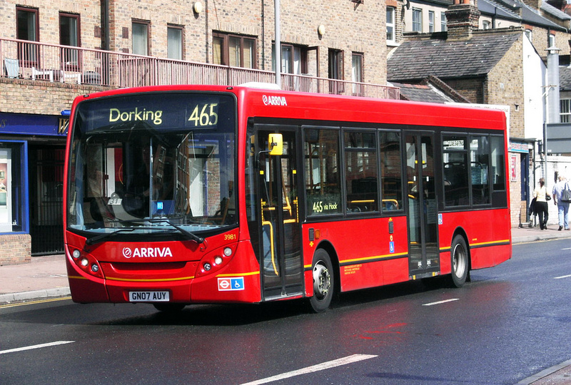 London Bus Routes Route 465 Dorking Kingston