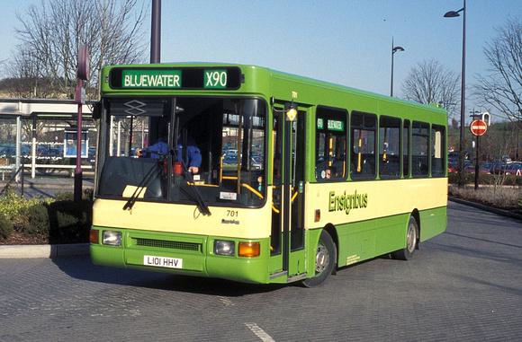 London Bus Routes | Ensignbus | Route X90, Ensignbus 701