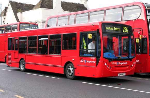 Route 296, Stagecoach London 36266, LX11AVW, Romford Station