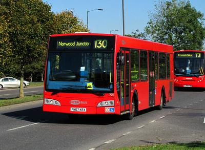 Route 130, Metrobus 705, PN07KRX, Addington Village
