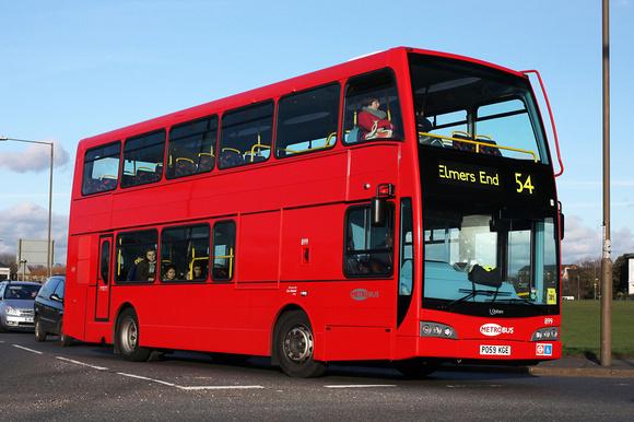 London Bus Routes | Route 54: Elmers End - Woolwich | Route