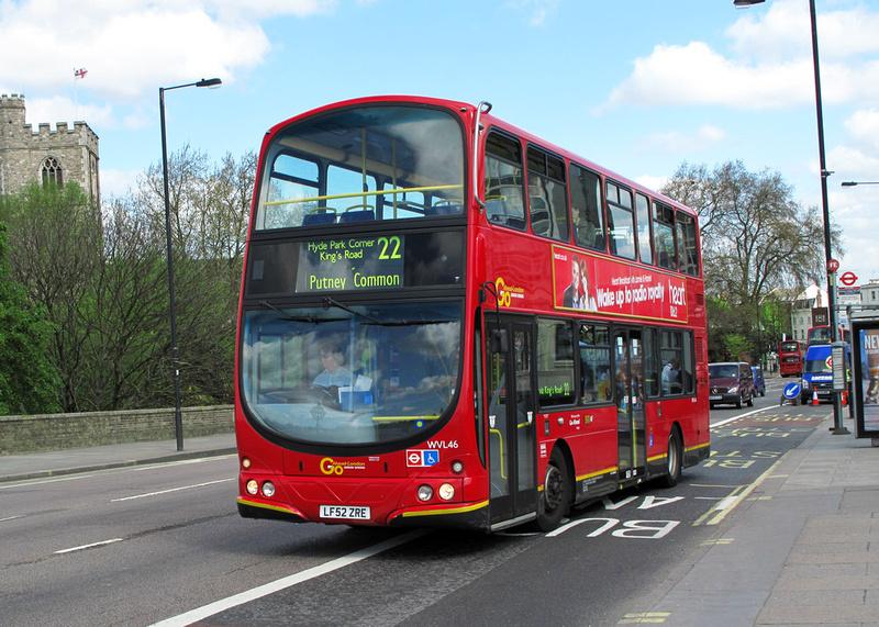 London Bus Routes Route 22 Oxford Circus Putney Common