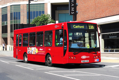 Route 336, Metrobus 266, PN06UYW, Bromley
