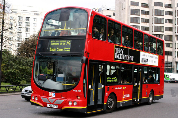 Route 74, London General, WVL200, LX05EZS, Marble Arch