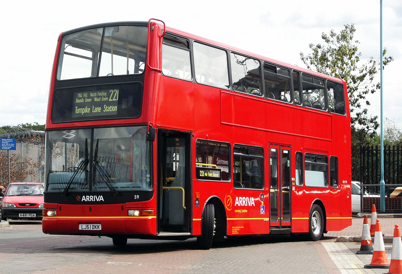 London Bus Routes Route 221 Edgware Turnpike Lane Station