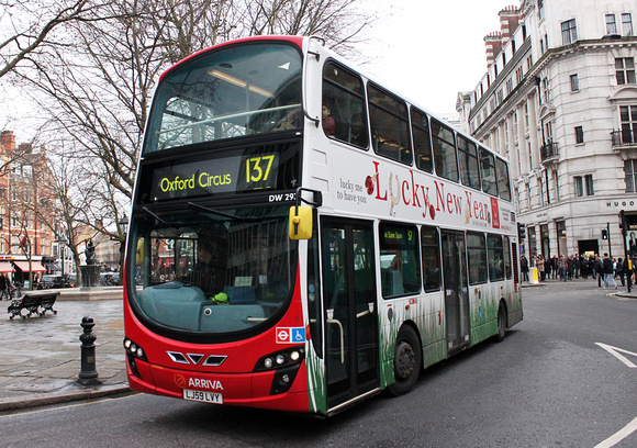 Route 137, Arriva London, DW293, LJ59LVY, Sloane Square