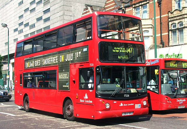 London Bus Routes Route 147 Canning Town Ilford