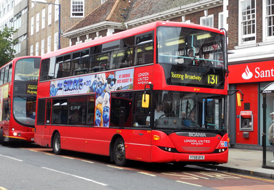 Route 131, London United RATP, SP107, YT59DYX, Kingston