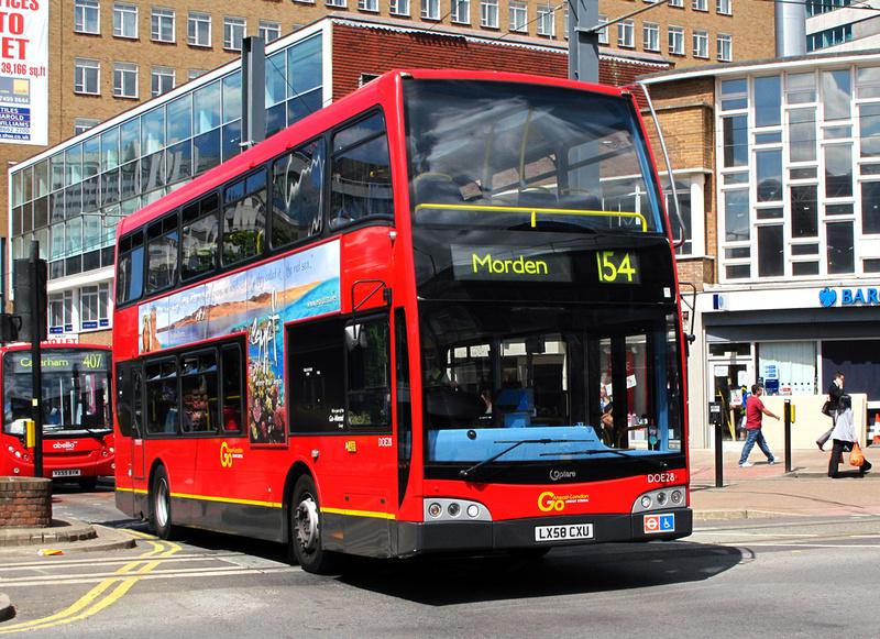 London Bus Routes Route 154 Morden West Croydon