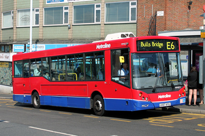 Route E6, Metroline, MM823, LK57AYU, Hayes and Harlington