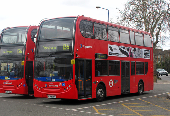 Route 136, Stagecoach London 10124, LX12DDY, Grove Park