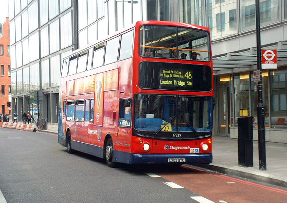 Route 48, Stagecoach London 17829, LX03BYC, Liverpool Street