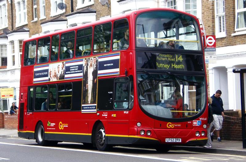 London Bus Routes Route 14 Putney Heath Warren Street