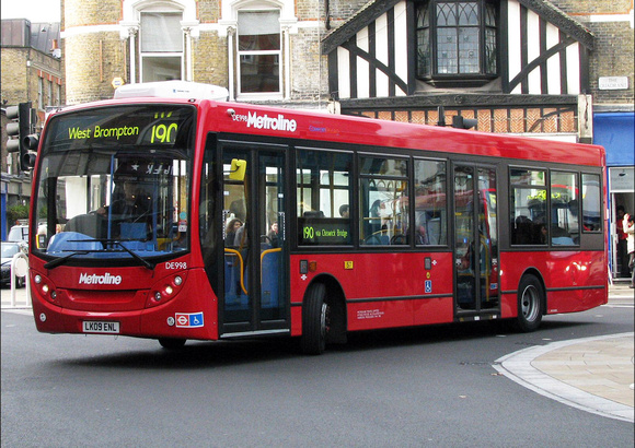 London Bus Routes Route 190 Richmond West Brompton