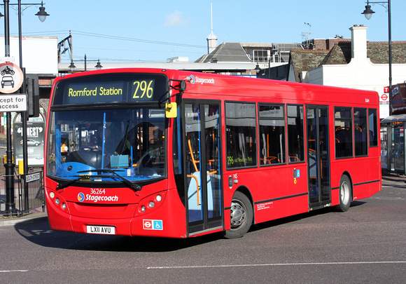 Route 296, Stagecoach London 36264, LX11AVU, Romford