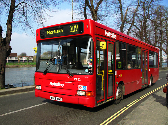 Route 209, Metroline, DP22, W122WGT, Mortlake