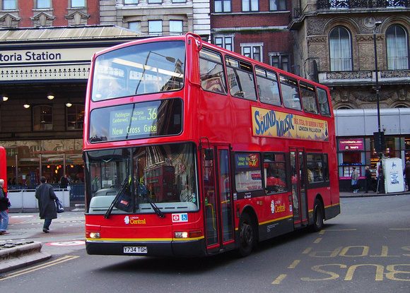 Route 36, London Central, PVL234, Y734TGH, Victoria