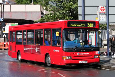 Route 380, Stagecoach London 34357, LV52HKJ, Lewisham